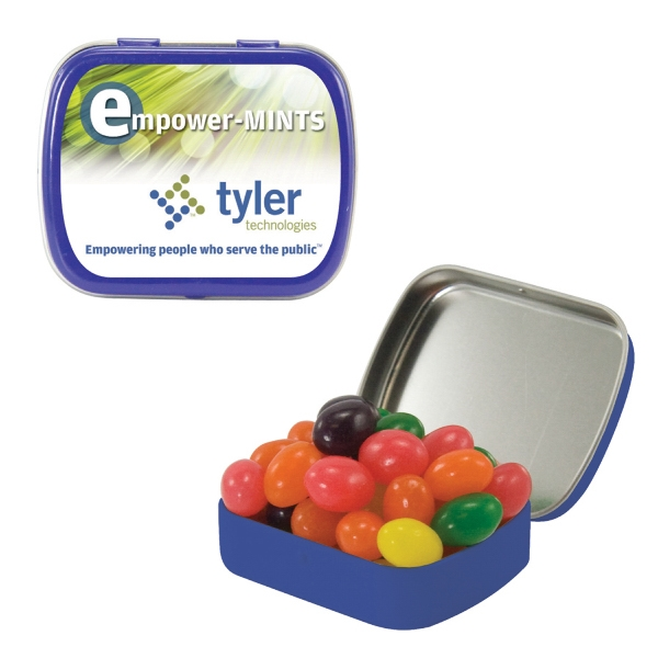 Item #ST02-JELLY Small Candy Tin with Jelly Beans