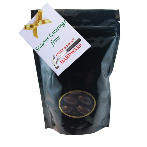 Item #WB1-ALMONDS Window Bag with Chocolate Almonds Nuts
