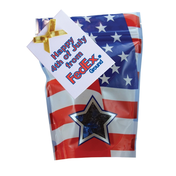 Item #WB2P-FOIL Window Bag with Hard Foil Candy - Patriotic - 4th of July