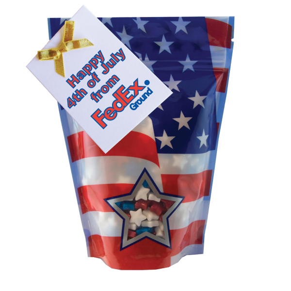 Item #WB2P-STARS Large Window Bag with Candy Stars - Patriotic - July 4th