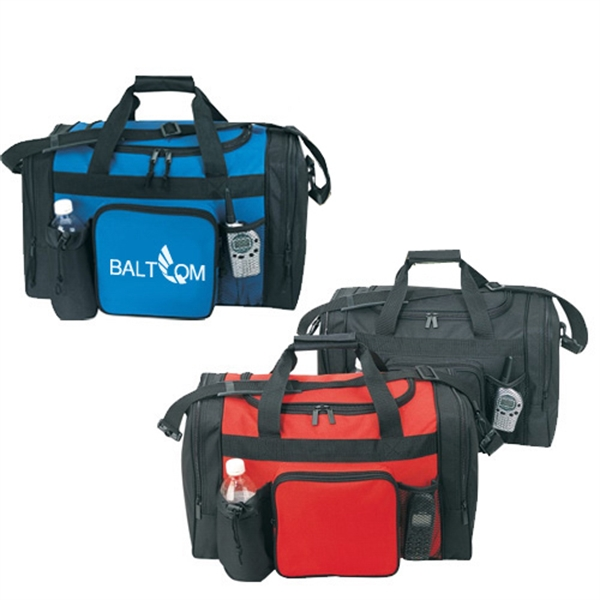 Item #B-8924 Poly Travel Duffel Bag