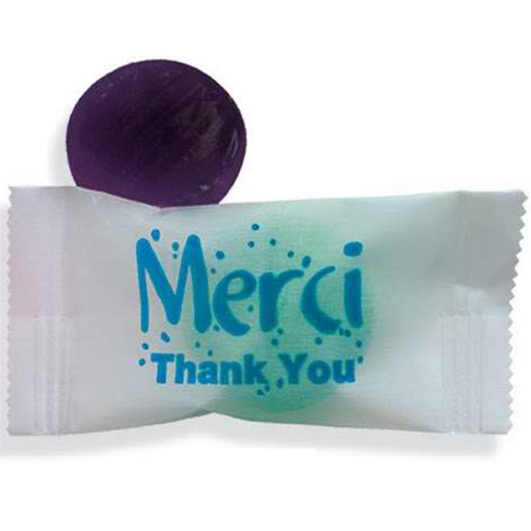 "Item #FS0575-E Stock Wrapped Individual ""Merci"" Candy"