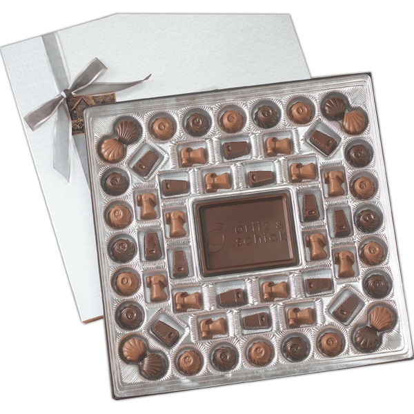 Item #TR24 Custom Molded Chocolate Delights gift box