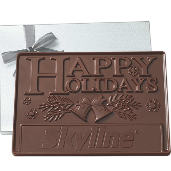 Item #EC6C-E 2 lb Custom Molded Chocolate Presentation Bars