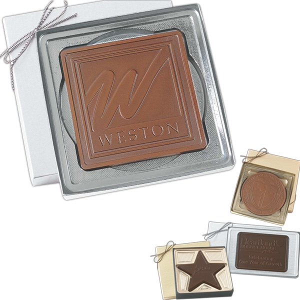 Item #EC3 Rectangle shape molded chocolate in gift box