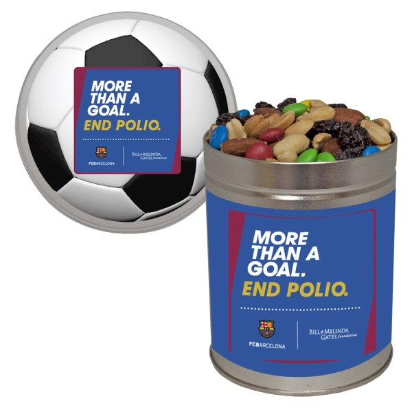 Item #QT204-TRAIL Quart Tin with Trail Mix