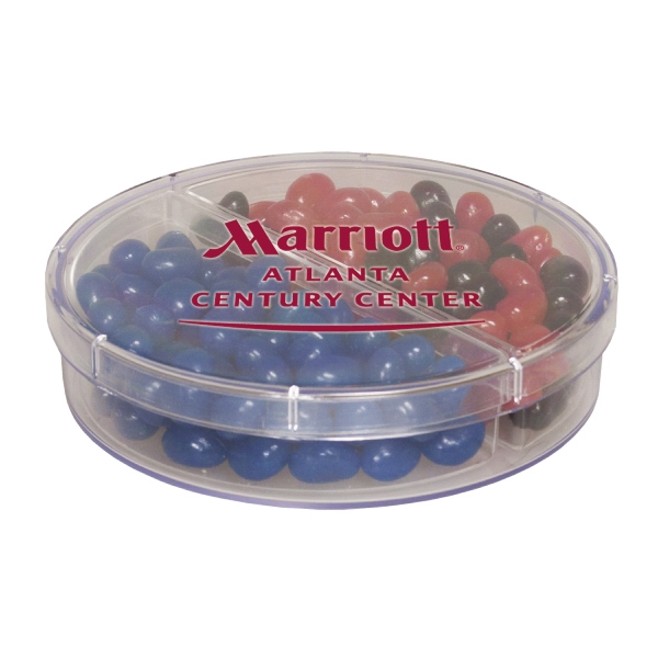 Item #SPFMN-CHOC Full Moon Container w/ Corporate Color Chocolates - Acrylic