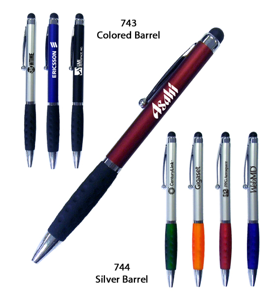 Item #IPAD PEN 744 Stylus Top Ballpoint Pen #E744VA