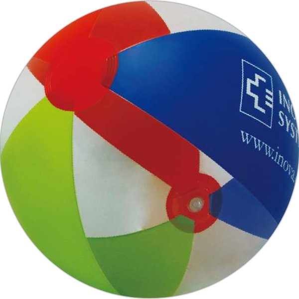 Item #AB-2268 Inflatable Red, Green, Blue and Clear Beach Ball