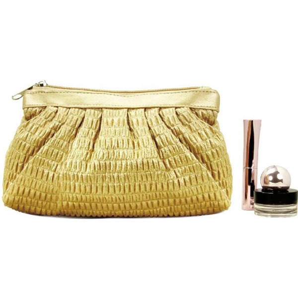 Item #AW-420 Mid Size Pleated Cosmetic Bag
