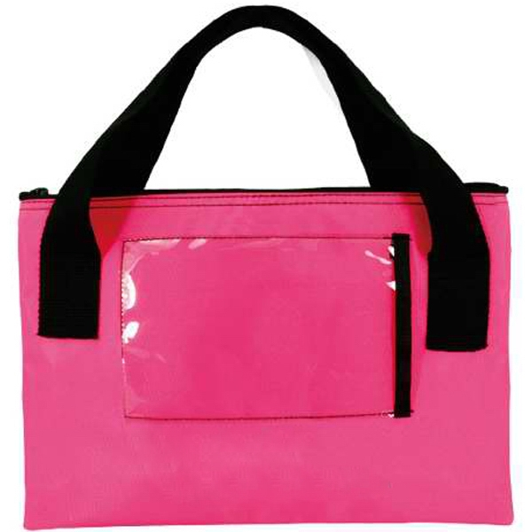 Item #AW-399 Neon Bag with Clear Pocket
