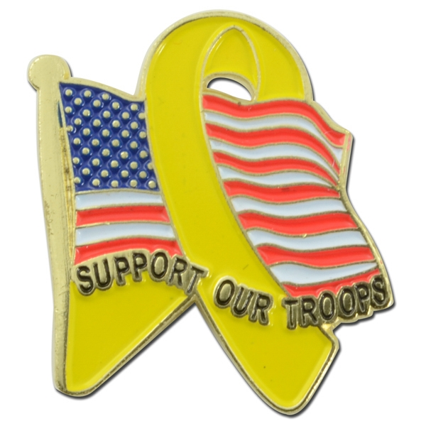 Item #L24 American Troop Support Lapel Pin