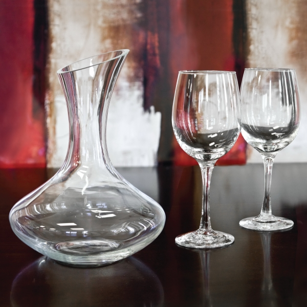 Item #WS622_Blank Sonoma - 3 Piece Wine Decanter Set