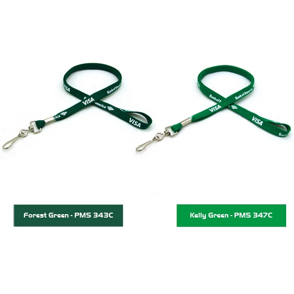 "3/8"" Silkscreened Tubular Lanyard"