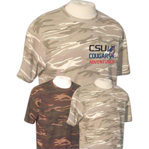 Item #AW243 Anvil 4.9 oz, 100% Ringspun Cotton Camouflage T-Shirt Rx