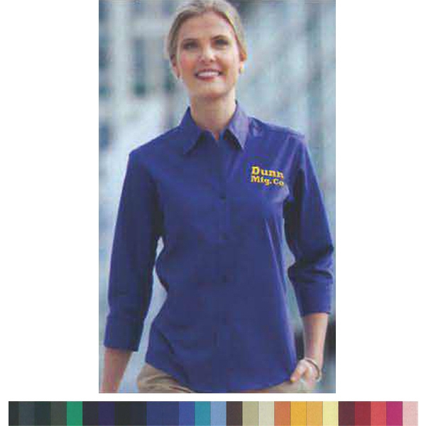 Item #AW403E Ladies' Long Sleeve Cotton/Poly Oxford Button-DownShirt Rx