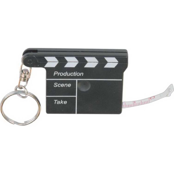 Item #MT-T31 Movie Clapper Tape Measure w/Key Chain