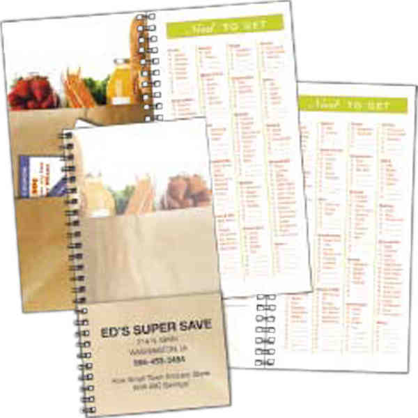 Item #8229 Grocery shopper notebook.