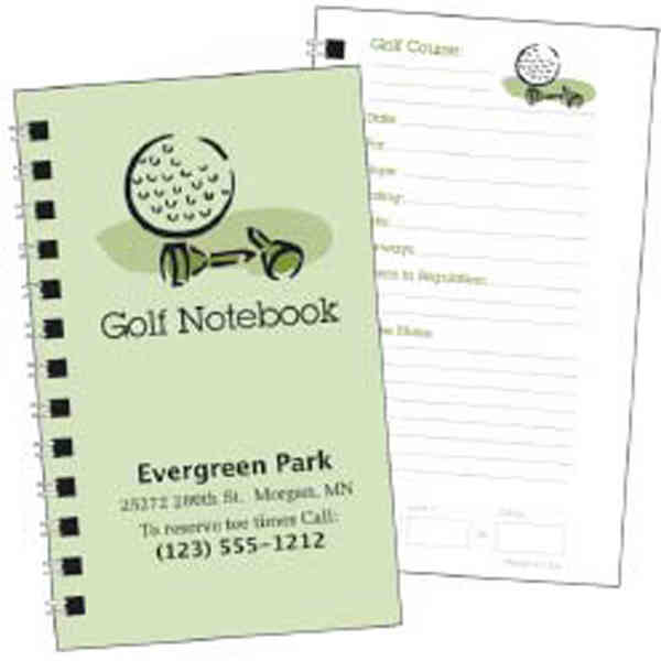 Item #8304 A handy notebook for keeping track of all those memorable golf rounds.