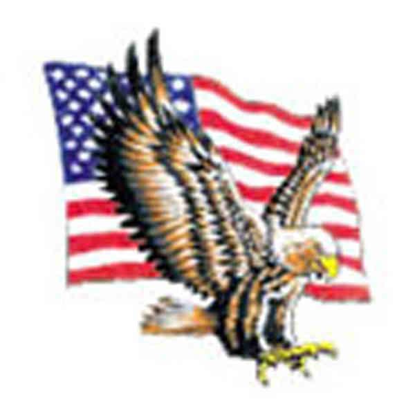 eagle flag wings stock tattoo designs item 7005 custom printed. Black Bedroom Furniture Sets. Home Design Ideas