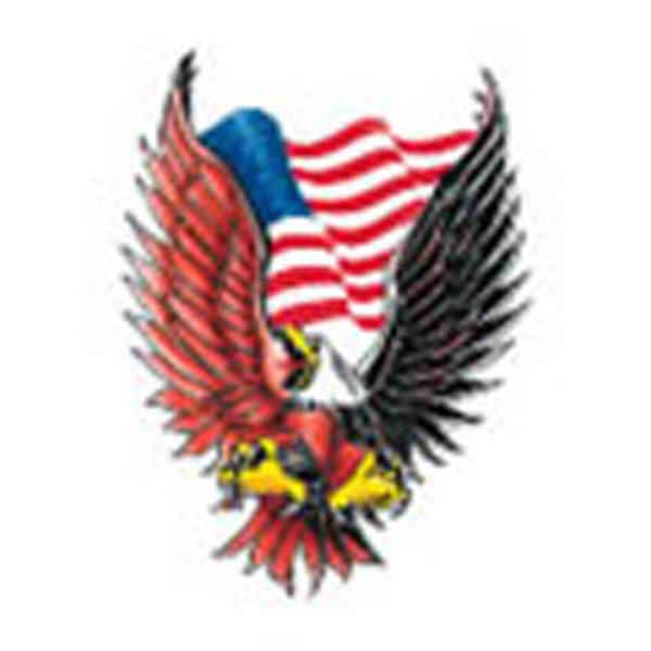 brown eagle stock tattoo designs item 8003 custom printed promotional. Black Bedroom Furniture Sets. Home Design Ideas