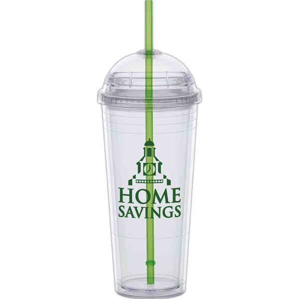 Big Top Cups With Straws : Big top carnival green straw oz cup with twist on
