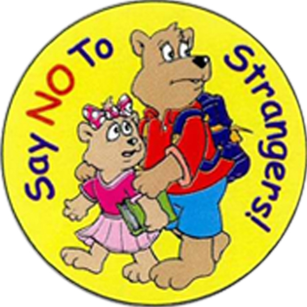 Item #S-01 Say No To Strangers Sticker Rolls