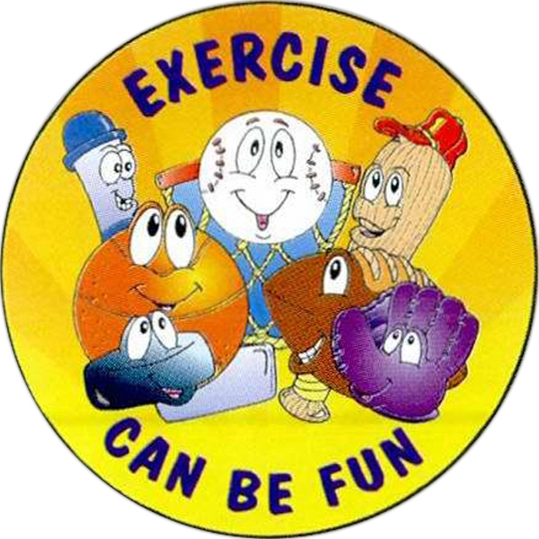 Item #S-05 Exercise Can Be Fun Sticker Rolls