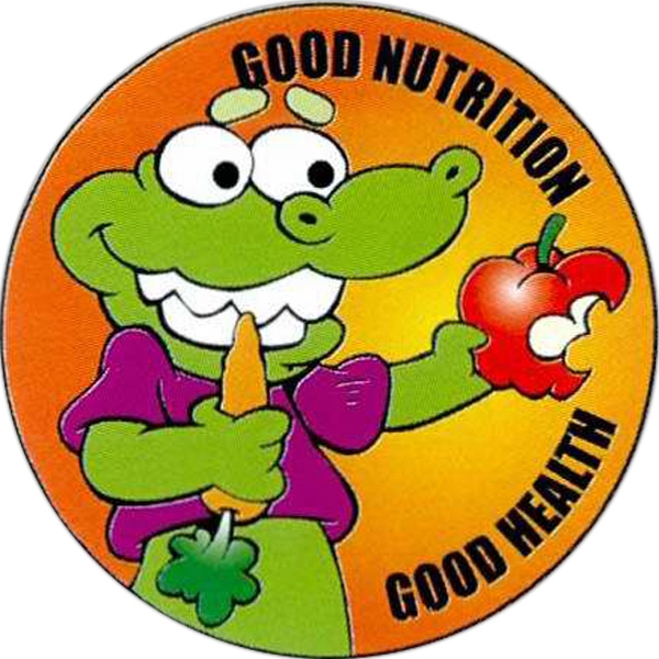 Item #S-80 Good Nutrition Good Health Sticker Rolls