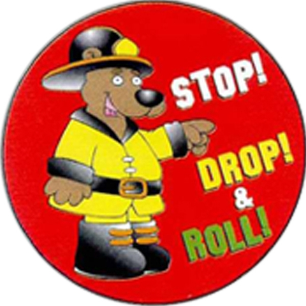 Item #S-85 Stop, Drop and Roll Sticker Rolls