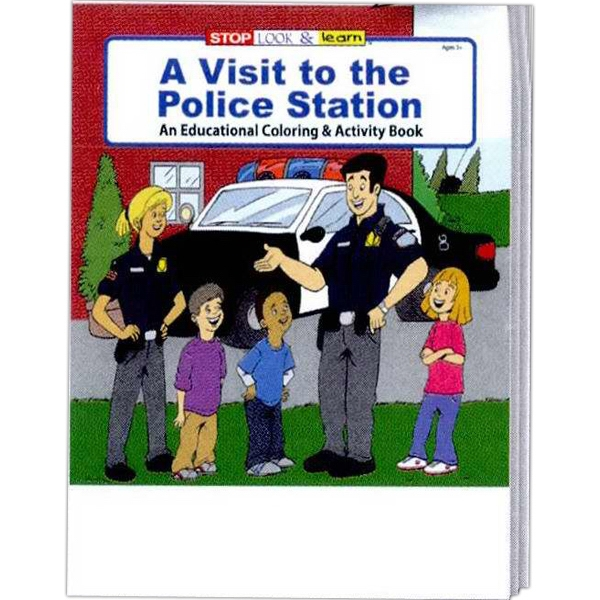 Item #0175FP A Visit to the Police Station Coloring Book Fun Pack