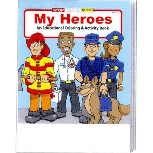 Item #0489 My Heroes Coloring and Activity Book
