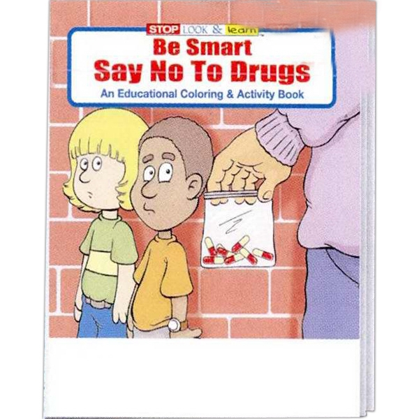 Item #0100FP Be Smart Say No to Drugs Coloring and Activity Book Fun Pack