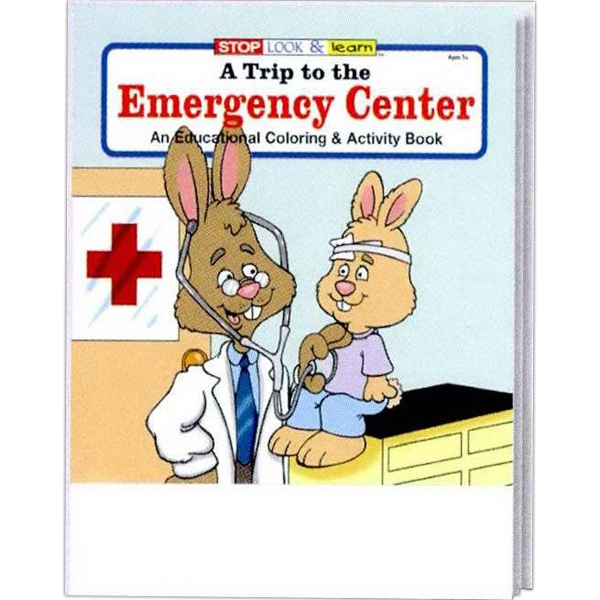 Item #0360FP A Trip to the Emergency Center Coloring Book Fun Pack