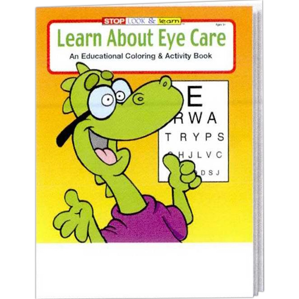 Item #0345FP Learn About Eye Care Coloring and Activity Book Fun Pack