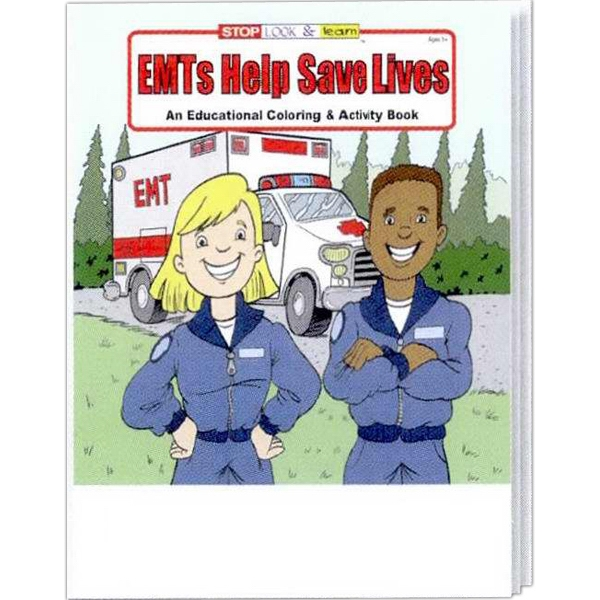 Item #0380FP EMTs Help Save Lives Coloring and Activity Book Fun Pack