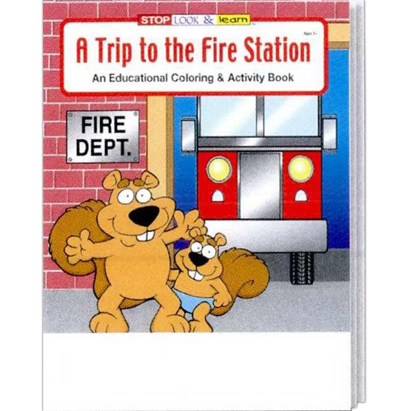 Item #0195 A Trip to the Fire Station Coloring and Activity Book