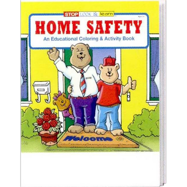 Item #0210FP Home Safety Coloring and Activity Book Fun Pack