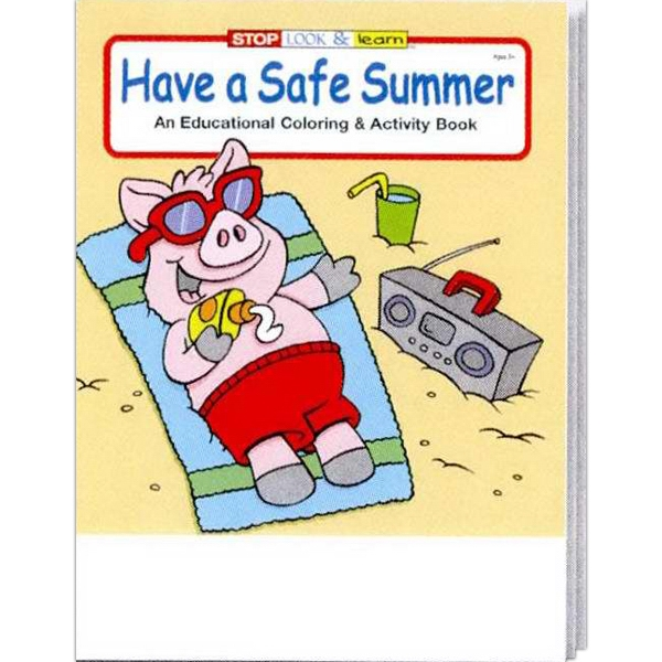 Item #0298FP Have a Safe Summer Coloring and Activity Book Fun Pack