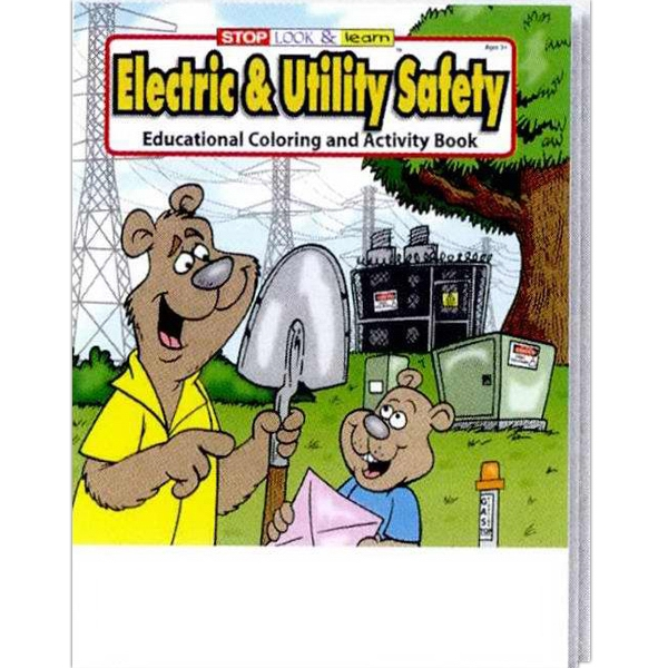 Item #0315FP Electric & Utility Safety Coloring & Activity Book Fun Pack