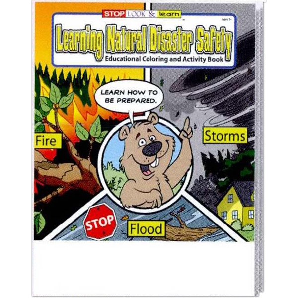 Item #0451FP Learning Natural Disaster Safety Coloring Book Fun Pack