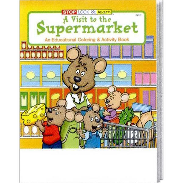 Item #0580 A Visit to the Supermarket Coloring and Activity Book