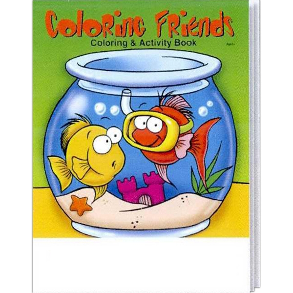Item #0565FP Coloring Friends Coloring and Activity Book Fun Pack