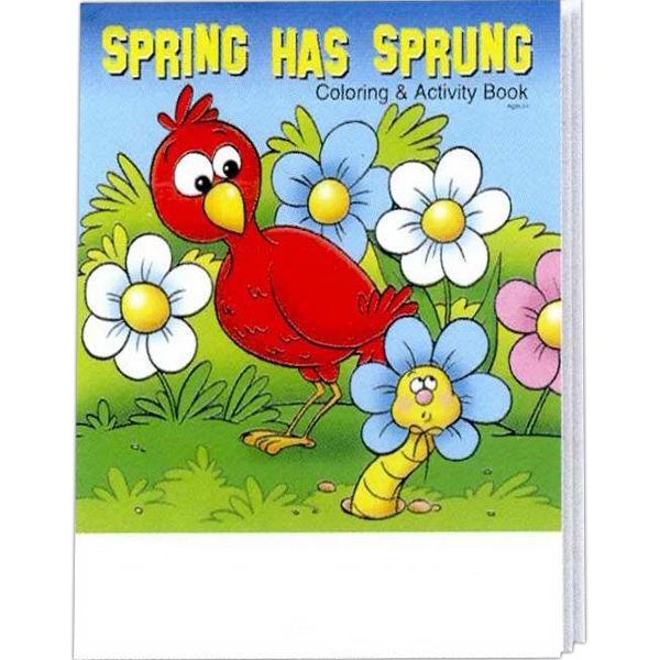Item #0448FP Spring Has Sprung Coloring and Activity Book Fun Pack