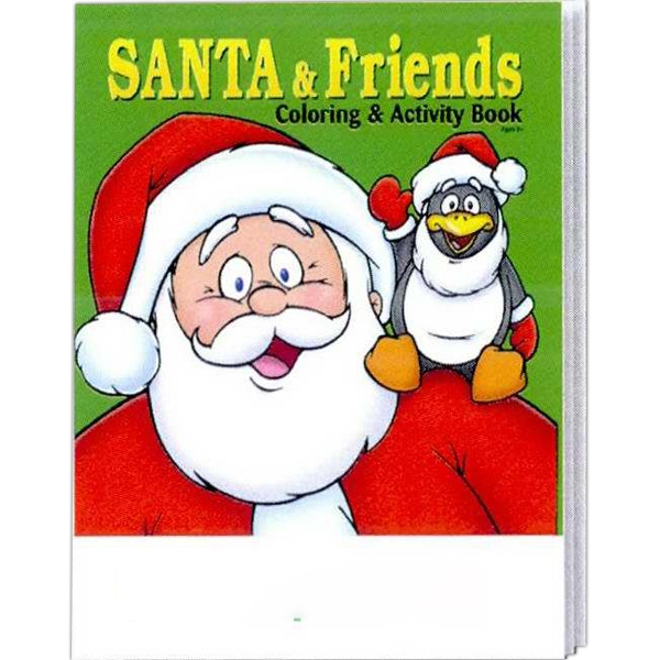 Item #0502FP Santa and Friends Coloring and Activity Book Fun Pack