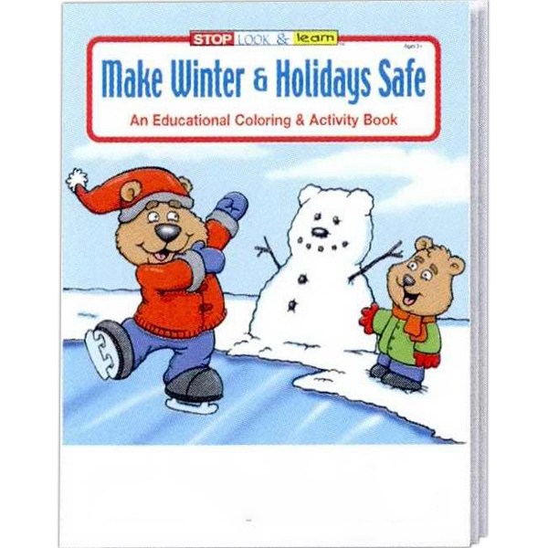 Item #0510FP Make Winter & Holidays Safe Coloring Book Fun Pack
