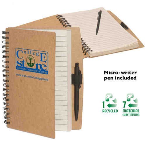 Item #PL-3705 Eco-Note Keeper, Eco-Responsible (TM) - Eco-friendly note keeper, cardboard cover made from recycled paper, comes with pen.