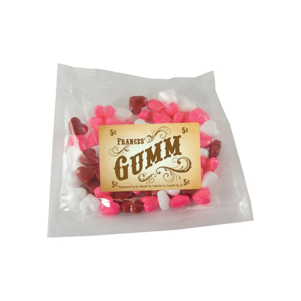 Item #LPP21-HEARTS Large Promo Candy Pack with Candy Hearts