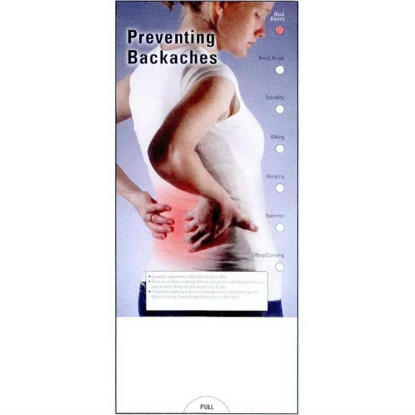 Item #PG-1020 Preventing Backaches Slide Chart