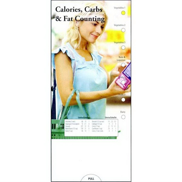 Item #PG-1040 Calories, Carbs & Fat Counting Slide Chart